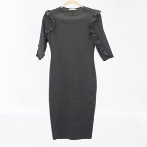 Zara Trafaluc Bodycon Dress W/ Ruffled Sleeves S-M
